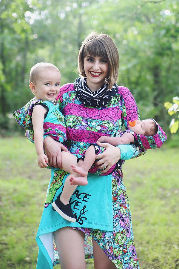 mor och barn kläder matchning