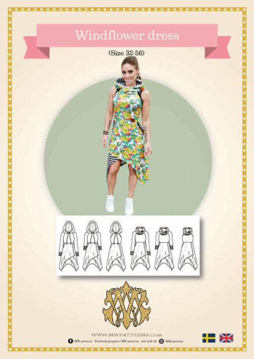 symönster på cool klänning