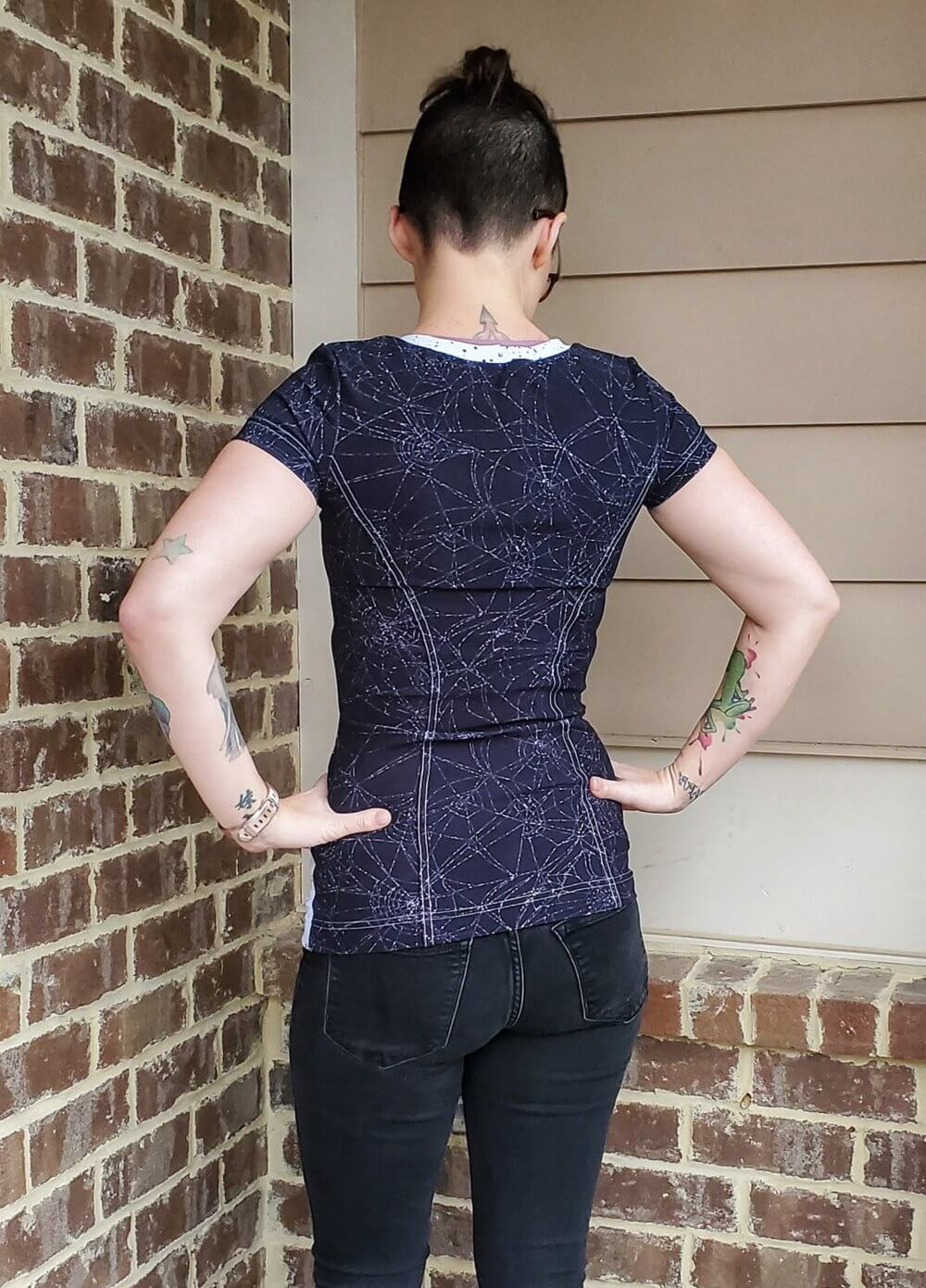 windward violet top PDF pattern