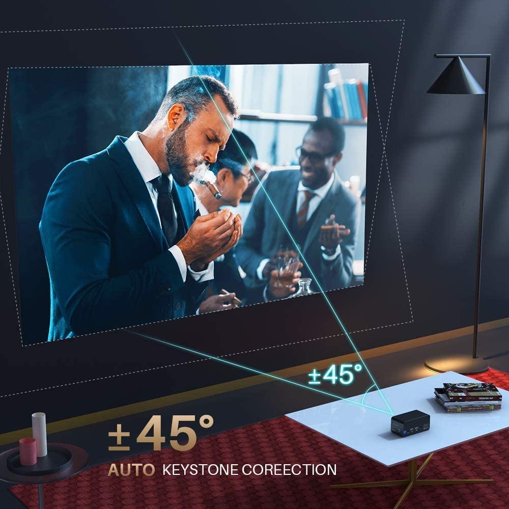 auto keystone correction mini projektor