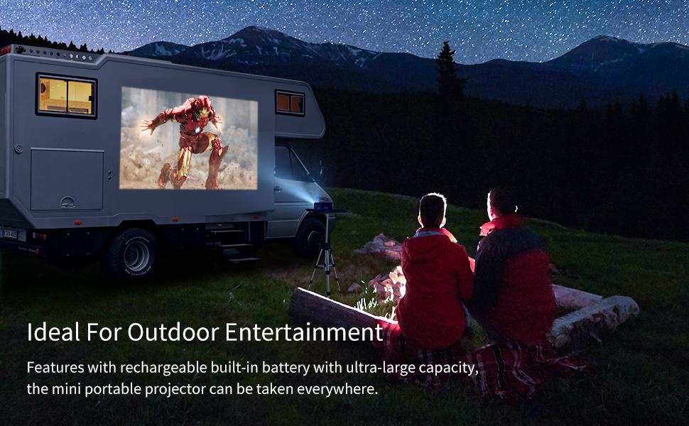 vankyo go300 projektor camping