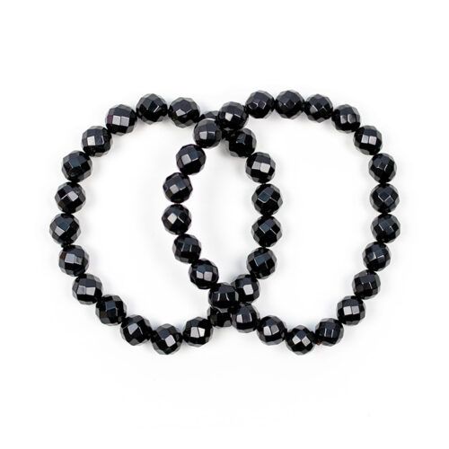 svart agat armband